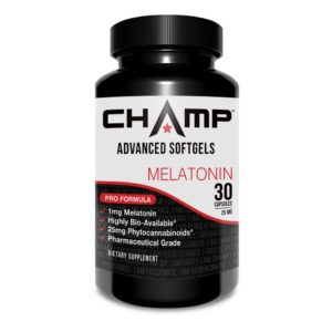 CHAMP ™ CBD Softgels with Melatonin - 30 Count
