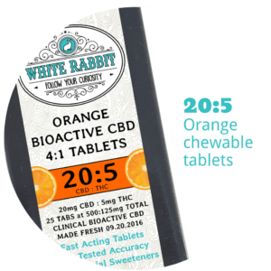20:5 CBD:THC Orange Chewable Tablets